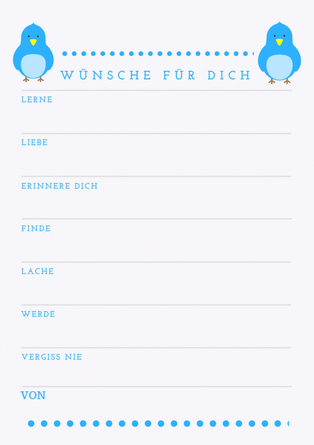 Wunsche furs baby babyparty