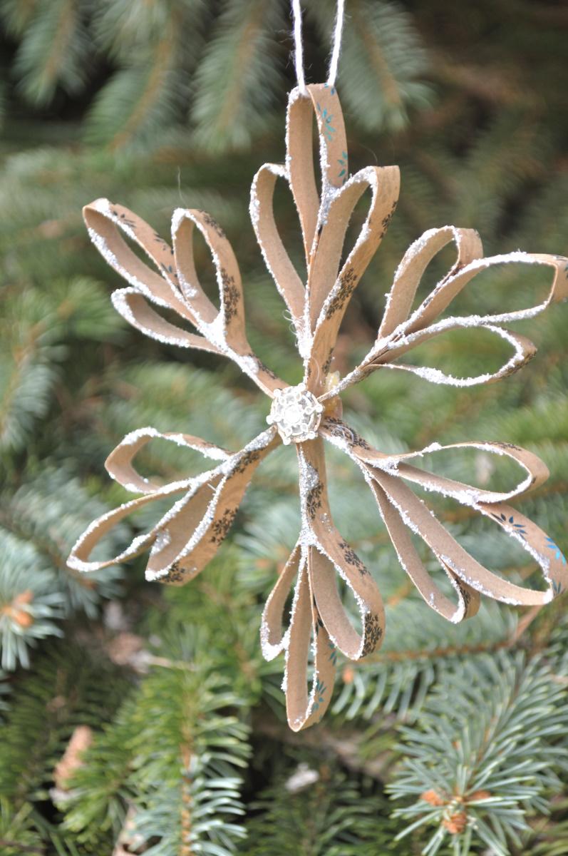 Ein wenig Vintage-Look: Schneeflocken aus Papier sind ein echter Blickfang um den Tannenbaum zu schmücken. Auf dem Blog zeige ich dir, wie du ganz einfach diese Schneeflocken nachbasteln kannst. Die DIY-Idee ist einfach und sieht total schön aus.