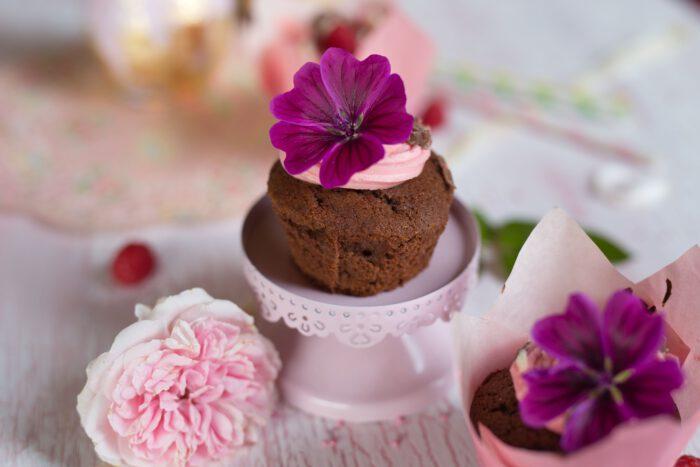 Schokocupcakes mit Himbeerfrosting