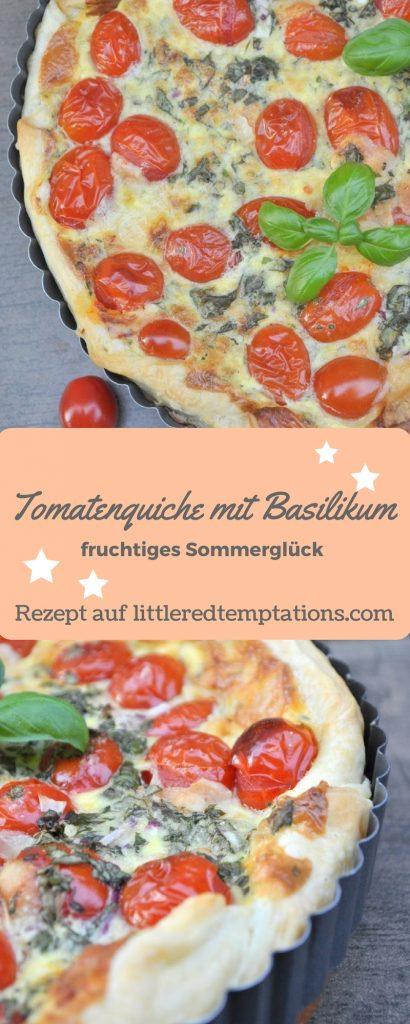 Perfekt für den Sommer: Tomatenquiche mit frischem Basilikum