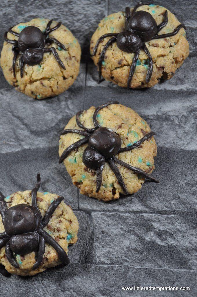 Halloween Gruselkekse Kekse - Party Rezept Ideen - Spinnenkekse