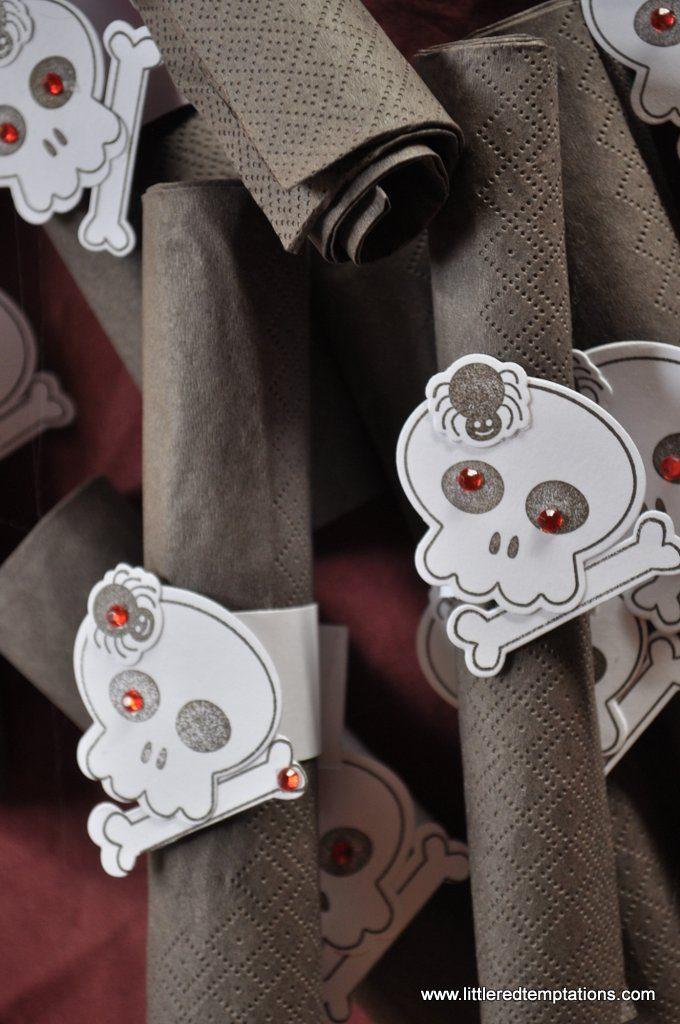 Serviettenringe für die Halloweenparty