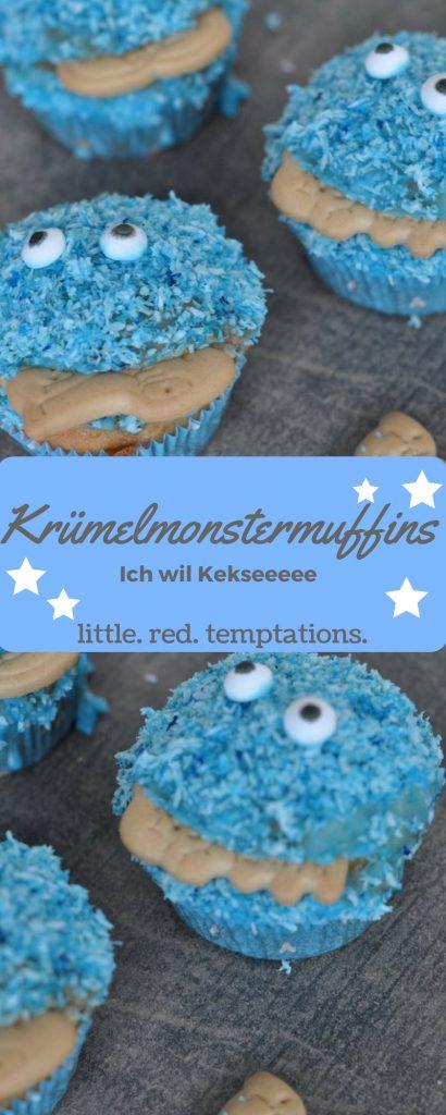 Perfekt für kleine Krümelmonster: Krümelmonster-Muffins mit Rezept