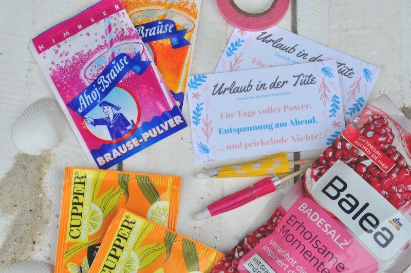 Urlaub in der Tüte - eine kleine schnelle DIY Idee mit der ihr schnell für Urlaubsfreude sorgt