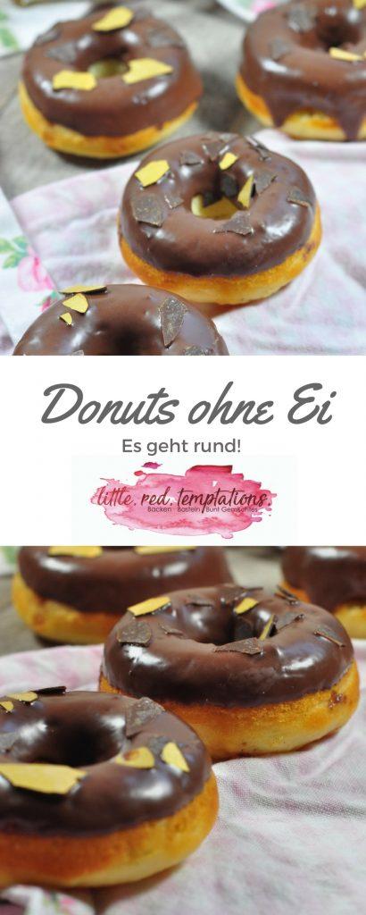 Ein Rezept für Donuts ohne Ei: diese Donuts werden mit einem Donutsblech im Ofen gebacken und kommen ganz ohne Ei im Teig aus. Schön fluffig und schokoladig umhüllt sind sie ein echter Leckerbissen!