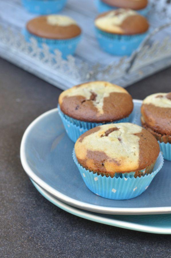 Rezept für sehr köstliche Cheesecake Muffins: perfekte Verbindung aus Cheesecakemasse und schokoladigen Muffins