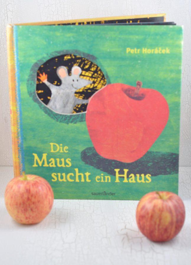 Ein wunderschönes Bilderbuch ist Die Maus sucht ein Haus. Herrlich um im Herbst auch mit Äpfeln zu basteln. Zum Vorlesen in der KITA perfekt geeignet.