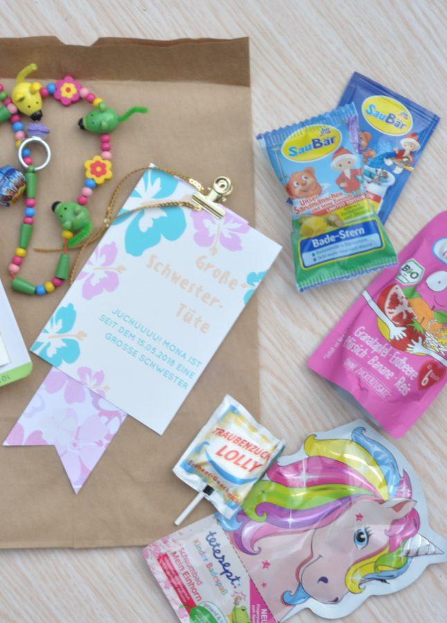 Für die großen Geschwisterkinder eine Tüte, zur Geburt, zur Einschulung, Kindergarten... süße Geschenkidee für Kinder