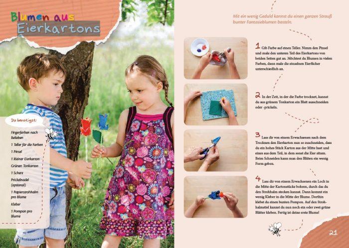 Mein Bastelbuch: Bastelspaß für die Kleinsten: kinderleichte Ideen für Kinder von zwei bis vier Jahren. Perfekt auch für die KITA.