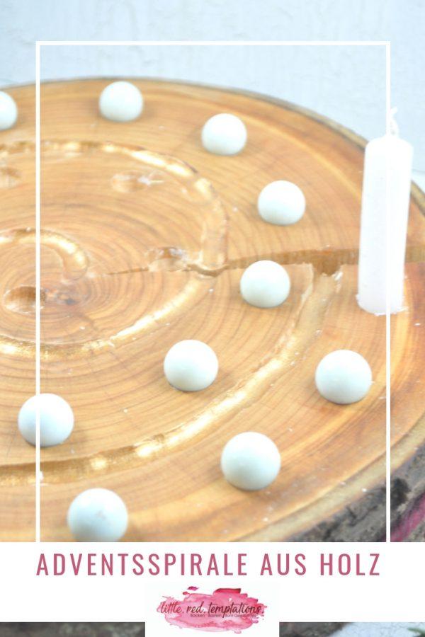 Adventsspirale aus Holz - besinnlich durch den Advent. Eine Alternative zum Adventskalender oder Adventskranz.