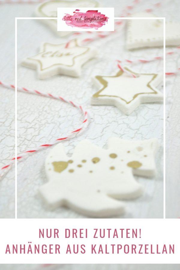 Supereinfache DIY-Idee! Anhänger aus Kaltporzellan sind schnell gemacht. Ich zeige dir, wie du aus nur drei Zutaten tolle Geschenkanhänger basteln kannst.
