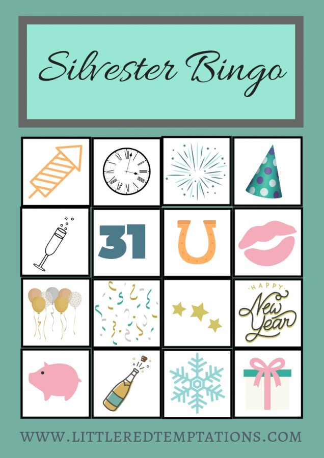 Bingo in der Silvester Variante - jede Menge Spielspaß für Kinder und Erwachsene