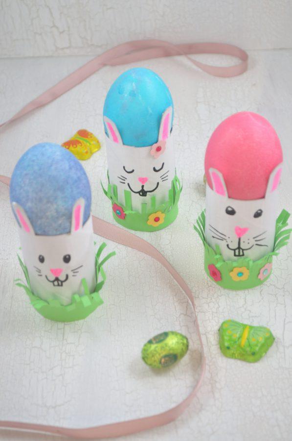 20 Stück Bastelvorlage Eierbecher Ostern Geschenk Hase
