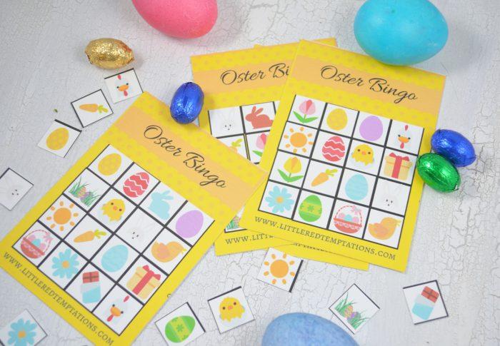 Spaß für die ganze Familie: Beim Osterbingo spielen, Kinder, Eltern, Großeltern. Und haben jede Menge Spaß. Das Freebie als Druckvorlage gibt es gratis auf dem Blog.