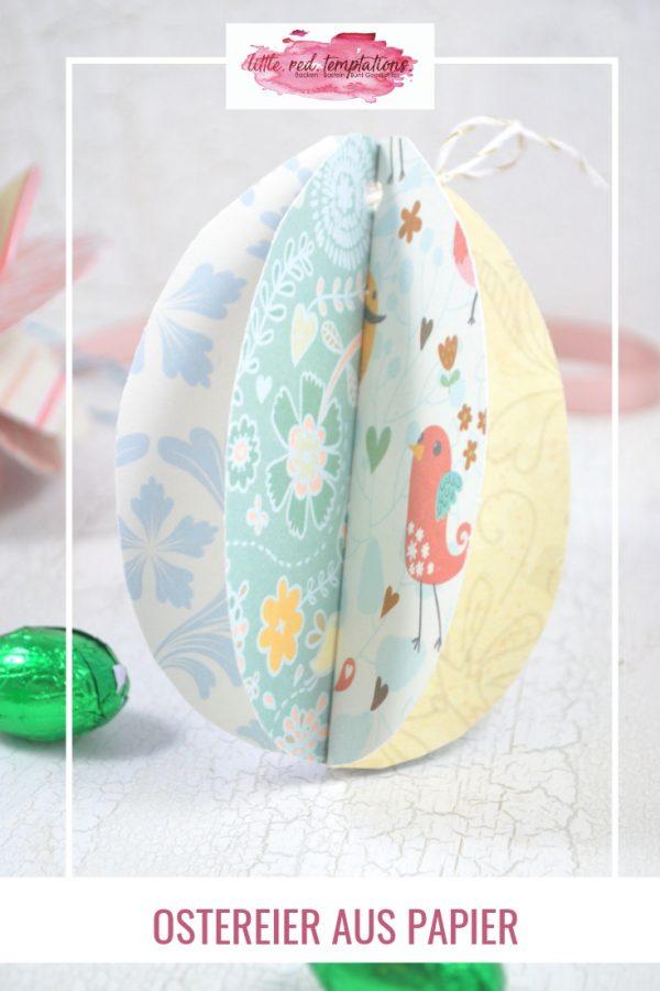 Wunderschöne Bastelidee für Ostern. Diese DIY Ostereier aus Papier sehen am Osterstrauch ebenso schön aus, wie als Tischdeko oder im Ostergesteck.