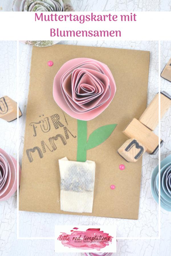 Eine Muttertagskarte gehört doch einfach zum Muttertag dazu. Heute zeige ich dir eine einfache Idee, wie du eine tolle Karte basteln kannst. Super für Kinder! Und sogar mit Blumensamen darin! Die Anleitung ist schnell umzusetzen.
